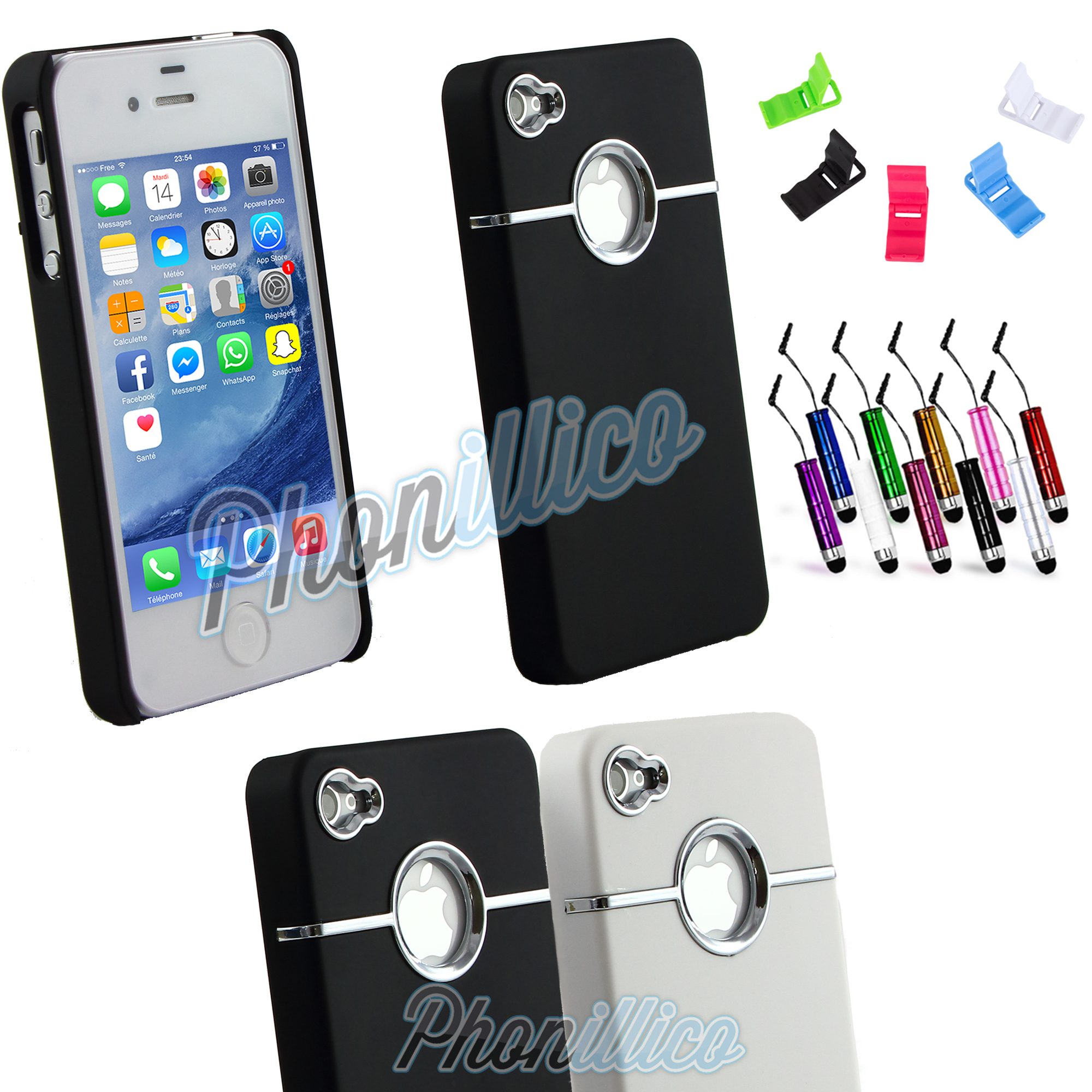 coque housse etui ligne argent pour apple iphone 4 4s. Black Bedroom Furniture Sets. Home Design Ideas