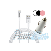 Chargeur Voiture + Cable Usb pour Apple iPhone 5 / 5S
