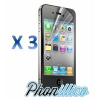 Lot 3 Films Protection Ecran pour Apple iPhone 4 / 4S