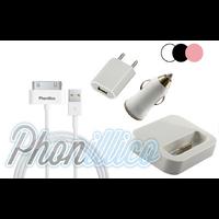 Pack Chargeur 4 en 1 pour Apple iPhone 4 / 4S