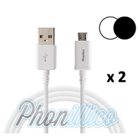 Lot de 2 Cables USB Chargeur pour Samsung Galaxy S6 Edge Plus