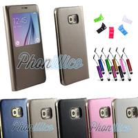 Coque Flip Cover S-View pour Samsung Galaxy S6 Edge Plus
