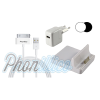 Pack Dock Chargeur pour Apple iPad 2 / 3 / 4