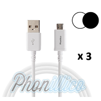 Lot de 3 Cables USB Chargeur pour Galaxy Alpha