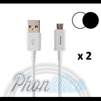 Lot de 2 Cables USB Chargeur pour Samsung Galaxy J1 2016