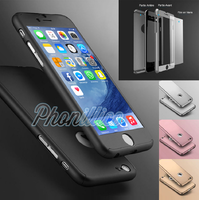 Coque Housse Etui Full 360 Hybride + Vitre Verre Trempé pour Apple iPhone SE