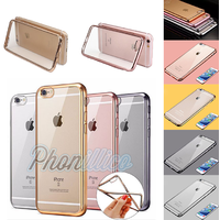 Coque Housse Etui Ultra Slim TPU Bumper Souple Plating pour Apple iPhone SE