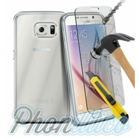 Coque Housse Etui Ultra Slim TPU Transparent + Film Protection Verre Trempe pour Samsung Galaxy S5