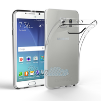 Coque Housse etui Ultra Slim TPU Transparent pour Samsung Galaxy S6