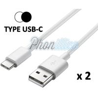 Lot de 2 Cables USB-C Chargeur pour Samsung Galaxy A5 2017