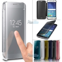 Coque Housse Etui Flip Cover Clear View pour Samsung Galaxy S7 Edge