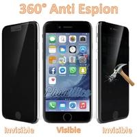 Film Protection Verre Trempe Anti Espion pour Apple iPhone 4 / 4S