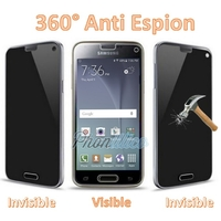 Film Protection Verre Trempe Anti Espion pour Samsung Galaxy S4 Mini