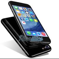 Coque Housse Etui TPU Noir de Jais Effet Piano pour Apple iPhone 7