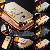 Coque Housse Etui Bumper Alu Miroir pour Samsung Galaxy J5 2016