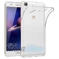 Coque Housse Etui Ultra Slim TPU Transparent pour Huawei Y6 2 / Y6 II
