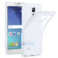 Coque Housse etui Ultra Slim TPU Transparent pour Samsung Galaxy Note 4