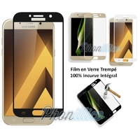 Film Protection Ecran Verre Trempe 100% Incurve Integrale pour Samsung Galaxy A5 2017