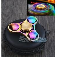 Hand SPINNER METAL Multicolore Fidget Toy Roulement Jouet Adulte Enfant Ado Anti Stress 3D Toupie