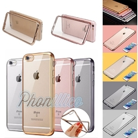 Coque Housse Etui Ultra Slim TPU Bumper Souple Plating pour Apple iPhone 8