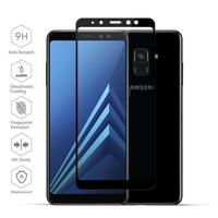 Film Protection Ecran Verre Trempe 100% Integrale pour Samsung Galaxy A8 2018