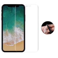 Film Protection Ecran Plastique 100% Incurve Integral pour Apple iPhone X