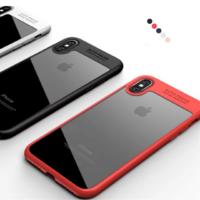 Coque Housse Etui TPU Bumper Mat Autofocus pour Apple iPhone X