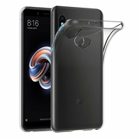 Coque Housse Etui Ultra Slim TPU Transparent pour Xiaomi REDMI NOTE 5