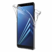 Coque Housse Etui TPU Silicone Intégrale Protection Transparent pour Samsung Galaxy A8 2018