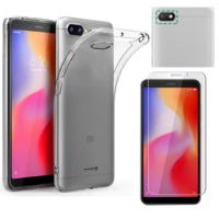 Coque Housse Etui Ultra Slim TPU Transparent + Film Protection Verre Trempe pour Xiaomi REDMI 6A