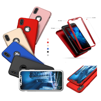Coque Housse Etui Full 360 Hybride + Vitre Verre Trempé pour Apple iPhone XR