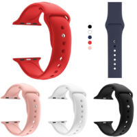 Bracelet Silicone Souple Sport Mixte pour Apple iWatch 38 mm