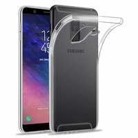 Coque Housse Etui Ultra Slim TPU Transparent pour Samsung Galaxy A6 PLUS 2018