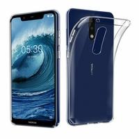 Coque Housse Etui Ultra Slim TPU Transparent pour Nokia 5.1 PLUS
