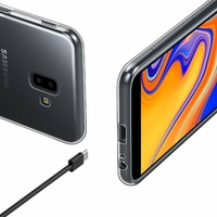Coque Housse Etui Ultra Slim TPU Transparent pour Samsung Galaxy J6 PLUS 2018