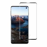 Film Protection Ecran Verre Trempe Integrale Bord Noir pour Samsung Galaxy S10