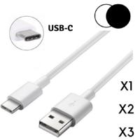 Cable USB-C Blanc ou Noir pour Samsung Galaxy A50