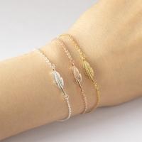 Bracelet Plume Fantaisie Bijoux Mode Femme