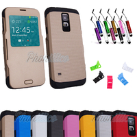 Coque Flip Cover S-View Armor pour Samsung Galaxy S5