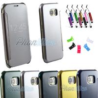 Etui Housse coque Flip Cover Transparente pour Samsung Galaxy S6