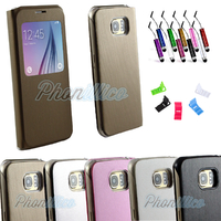 Coque Flip Cover S-View pour Samsung Galaxy S6