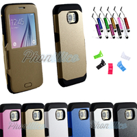 Coque Flip Cover S-View Armor pour Samsung Galaxy S6