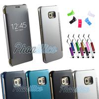 Etui Housse coque Flip Cover Transparente pour Samsung Galaxy S6 Edge Plus