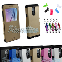 Coque Flip Cover S-View Armor pour Samsung Galaxy Note 4