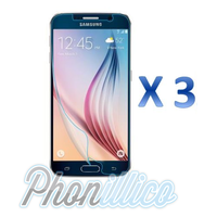 Lot 3 Films Protection Plastique Ecran pour Samsung Galaxy S6