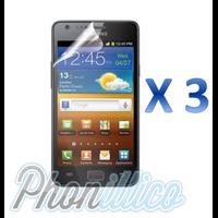 Lot 3 Films Protection Ecran pour Samsung Galaxy S2