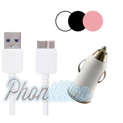 Chargeur Voiture + Cable USB pour Samsung Galaxy Note 3