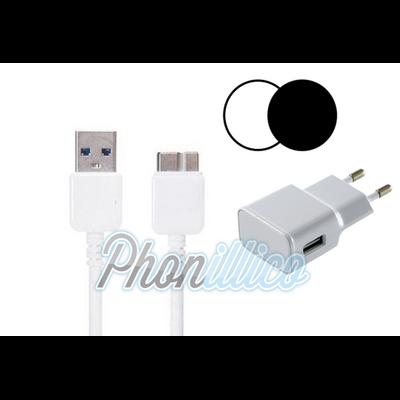 Chargeur Secteur + Cable USB pour Samsung Galaxy Note 3