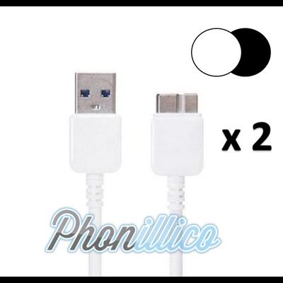 Lot de 2 Cables USB Chargeur pour Samsung Galaxy Note 3