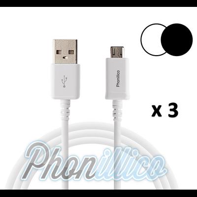 Lot de 3 Cables USB Chargeur pour Galaxy Alpha